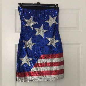 ASOS America Flag Sequin Mini Dress